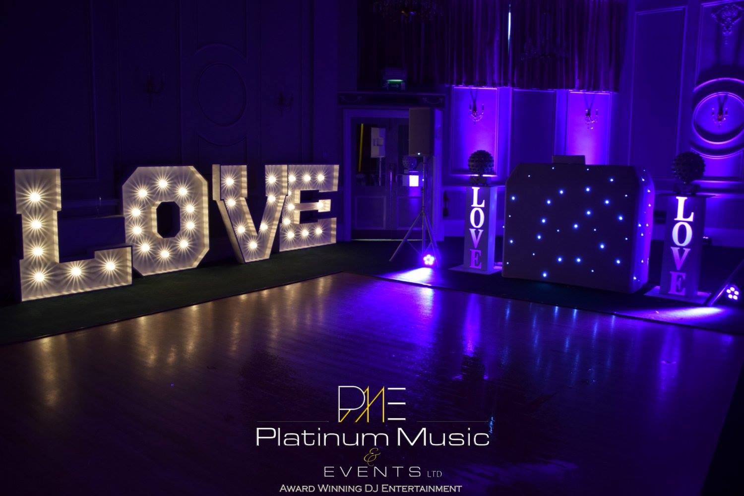 Wedding DJ Set Up - Platinum Music & Events